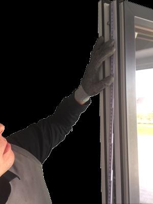Fenster richtig abmessen für Pilzkopfverriegelung