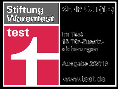 Panzerriegel Testsieger 2016 bei Stiftung Warentest